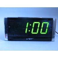Настольные Сетевые LED часы VST-731, Будильник