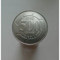 500 ливров 2006 Ливан