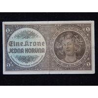 Чехия и Моравия 1 крона 1940 г