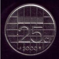 25 центов 2000 год Нидерланды