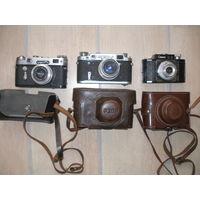 3 фотоаппарата одним лотом ( смена, фэд-2, зоркий-6)