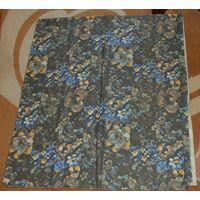 Ткань плотная х/б, цена за весь отрез 210х94 см (стилизованные маки и другие цветы)