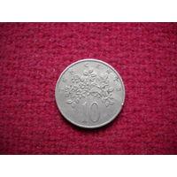 Ямайка 10 центов 1969 г.