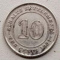 Стрейтс Сетлментс 10 цент 1927