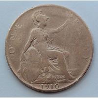 Великобритания 1 пенни. 1910