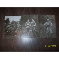 Солдаты СССР с немецкими автоматами