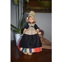 Кукла коллекционная антикварная, Голландия 31 см.