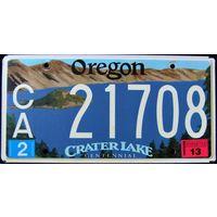 Номер автомобильный  Oregon lake