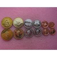 Остров Питкерн. набор 6 монет 5, 10, 20, 50 центов 1, 2 доллара 2009