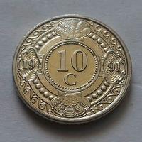10 центов, Нидерландские Антильские острова, (Антиллы) 1991 г., UNC