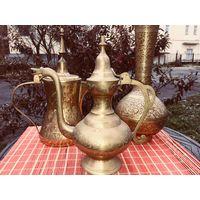 Sale Этнический стиль: кумган, кофейник из бронзы (латуни)