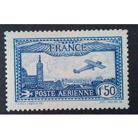 Франция авиапочта 1930 год ** Раритет Yvert Р.А. 6b Сертификат Calves