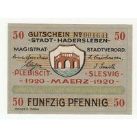 Дания оккупация Германией Нотгельд 50 пфеннигов 1920 года. Состояние аUNC!