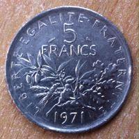 5 франков 1971 Франция KM # 926a.1