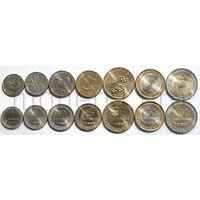 Восточный Тимор 7 монет 2003-2017 годов. Животные, растения