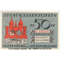 50 пфеннигов1920, Wittenberg (Виттенберг) Германия