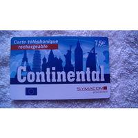 Францыя телефонная карточка 7.5 евро.(Continental) . распродажа