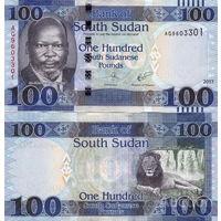 Южный Судан  100 фунтов 2017  год  UNC   (новинка)