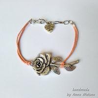 Браслет мини Роза (оранжевый)