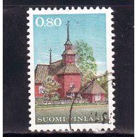 Финляндия.Ми-671. Деревянная церковь в Keuruu (1758). 1970.