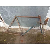 Старая рама велосипеда ЗИС под реставрацию, 1950-е