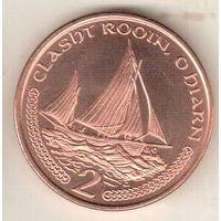Остров Мэн 2 пенс 2000