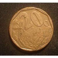Южная Африка. ЮАР. 20 центов 1996 год