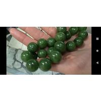 Крупные бусы шары натуральный нефрит