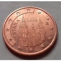 5 евроцентов, Испания 2008 г., AU