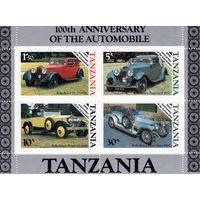 Танзания. 100 лет изобретения автомобиля. Блок.