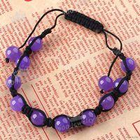 Браслет из фиолетового нефрита
