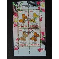 Руанда 2010г. Бабочки.