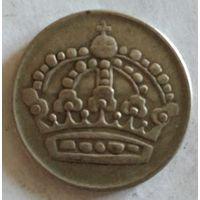 Швеция 50 эре 1954 серебро