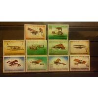 Самолеты, авиация, транспорт, воздушный флот, марки, Сан-Марино, 1962
