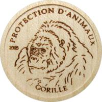 """Конго 5 франков 2005г. """"Горилла"""".  Монета в капсуле; сертификат. Дерево 2 гр."""