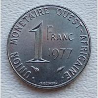Западная Африка (BCEAO) 1 франк, 1977  8-11-7