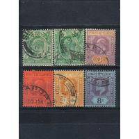 GB Колонии Малайя Стрейтс Сетлментс 1902-6 EVII Стандарт #80-1,83,96,121,125