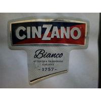 """Этикетка Итальянского белого вина """"Cin Zano"""". 2 штуки. История с 1757 года. Без мц."""
