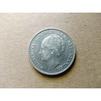 Нидерланды, 1 гульден 1929 г., серебро