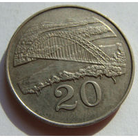 Зимбабве 20 центов 1980 г