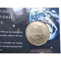 Австралия 5 долларов, 1992 Роль Австралии в космической индустрии - 5