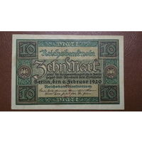 Германия / 10 mark / 1920 год / Ro-63 (a)