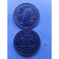 Барбадос 25 центов 1978г (мельница) распродажа