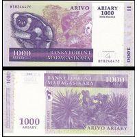 Мадагаскар 1000 ариари образца 2004 года UNC p89b