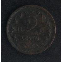 Литва 2 цента 1936 г. Не чищена (*). Состояние на фото!