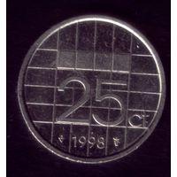 25 центов 1998 год Нидерланды