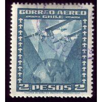 1 марка 1934 год Чили Самолёты 209