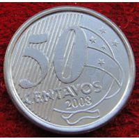 6891:  50 сентаво 2008 Бразилия