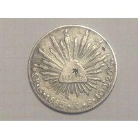 Мексика 8 реалов 1863г