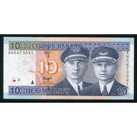 Литва. 10 лит образца 2001 года. P65. UNC